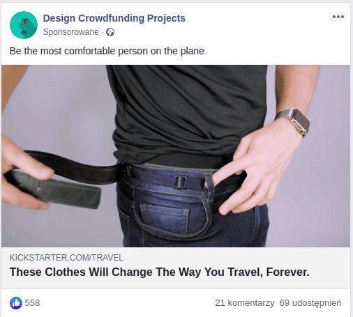 kreacja reklamowa na dobry lejek sprzedażowy na facebooku