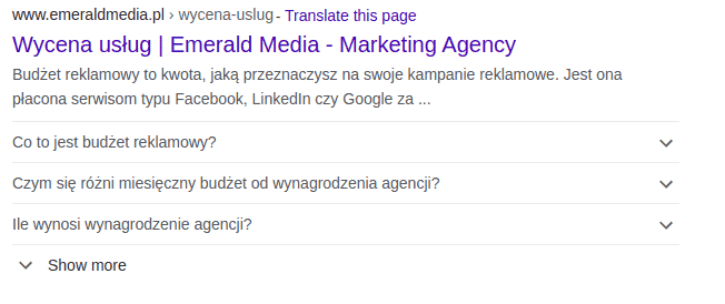 emerald media uporządkowane dane pod content marketing