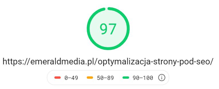 optymalizacja strony pod seo - page speed insights