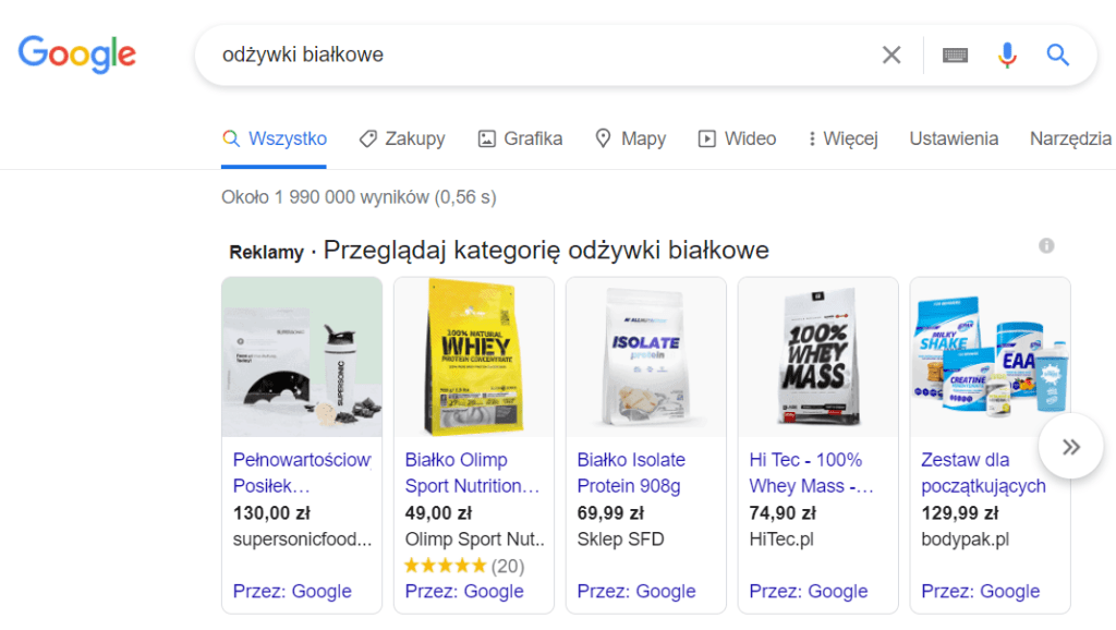 google ads kampania produktowa - promocja sklepu internetowego
